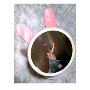 Bunny Ear Makeup Mirror with LED Light
